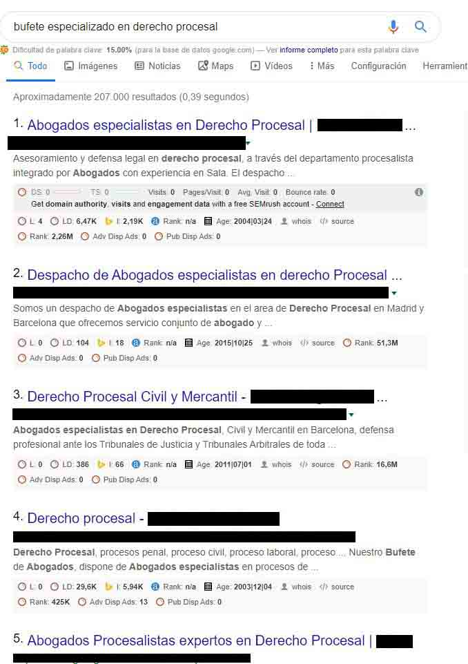 SEO local abogados